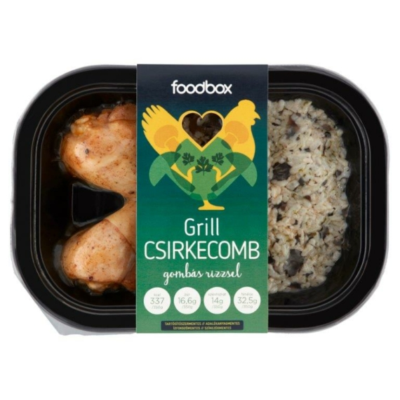 Foodbox Grill csirkecomb gombás rizzsel