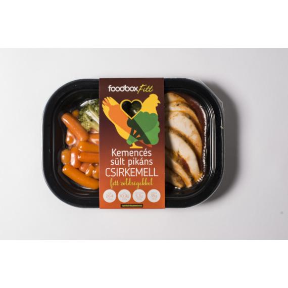 FoodBox FITT Kemencés sült pikáns csirke zölds.