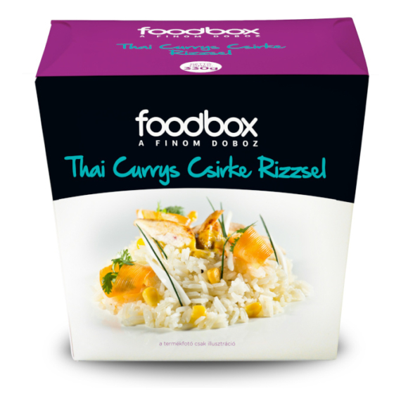 FoodBox Thai currys csirke rizzsel
